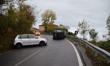 Violento incidente stradale sulla strada provinciale per Colle Brianza