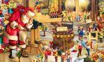Babbo Natale bussa alle porte dei bambini del paese
