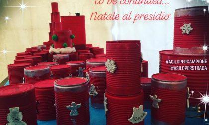 Un albero di Natale con gli addobbi fatti dai bambini a Campione d'Italia FOTO