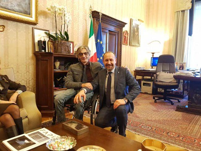 Il senatore Arrigioni incontra Alberto Torregiani, vittima di Cesare Battisti FOTO