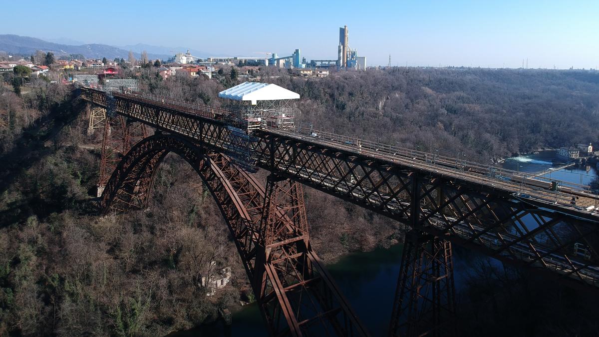 Il Ponte di Paderno visto dal drone VIDEO   Punto sui lavori, quando riapre