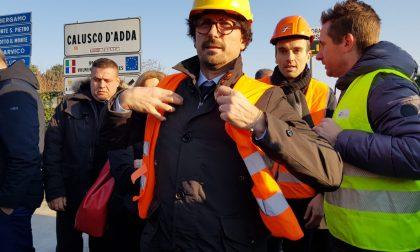 """Ponte di Paderno, il ministro Toninelli: """"Tornerò a vedere i lavori coi miei occhi"""""""