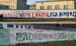 Dopo Pontida nuove scritte contro la Lega sui muri di via Bellerio