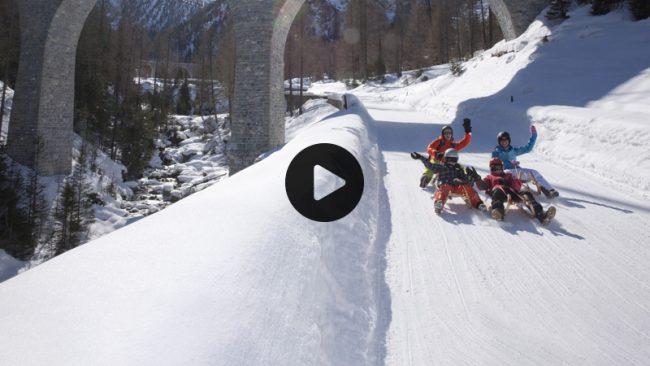 #Amicidellaneve slittata a Bergün VIDEO