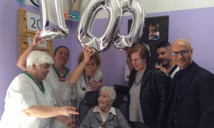 Auguri centenari per Rosa Marelli agli istituti Airoldi e Muzzi