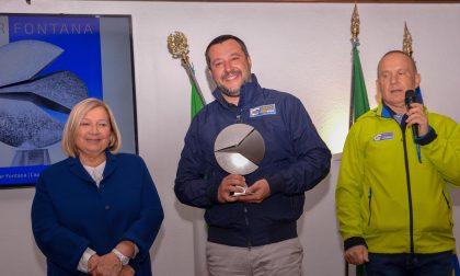 Al vicepremier Matteo Salvini il Premio Walter Fontana 2019 FOTO