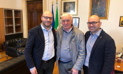 Il presidente de Il Granaio in visita al ministro Fontana