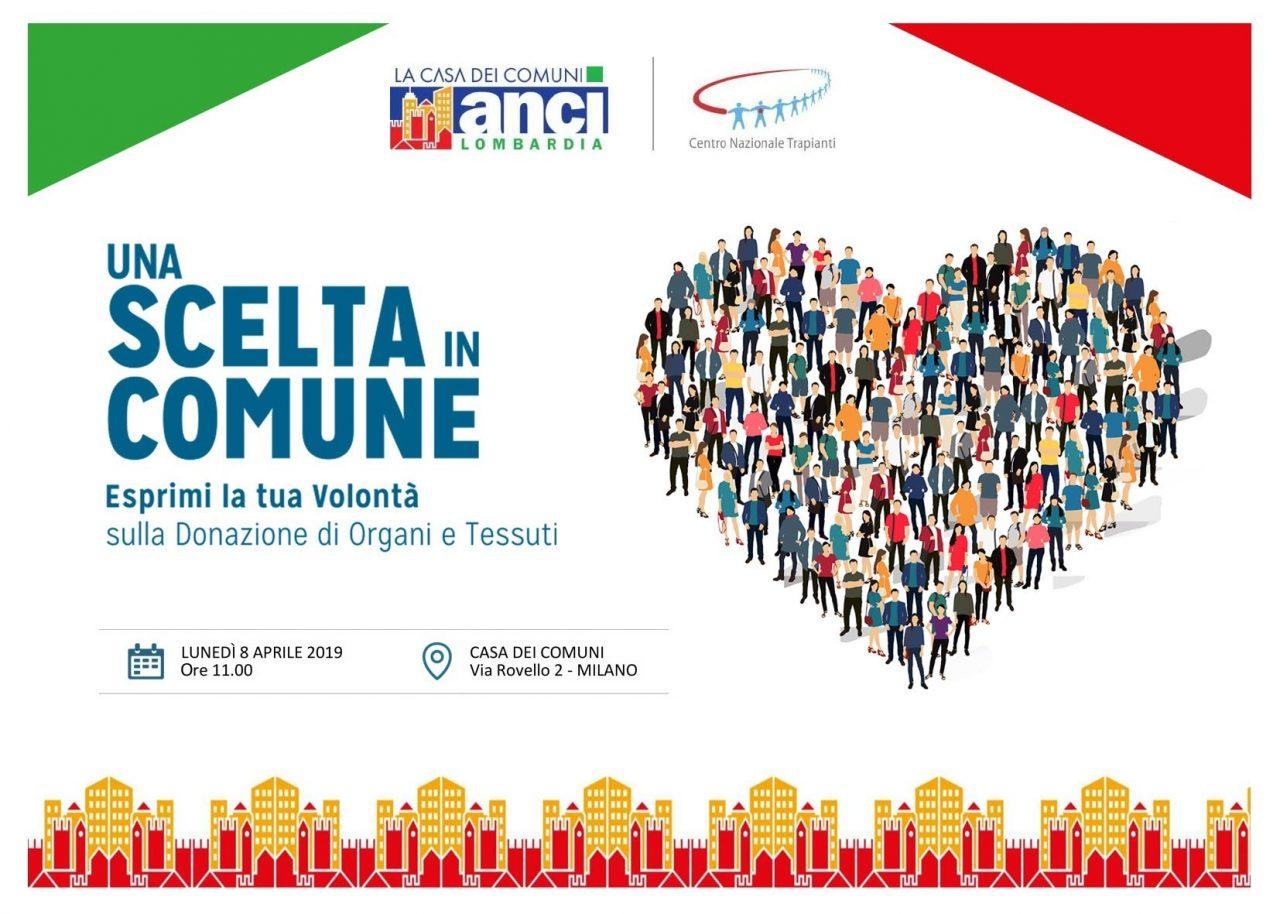 """Donazione di organi nei Comuni: Anci Lombardia rilancia la campagna """"Una scelta in Comune"""""""
