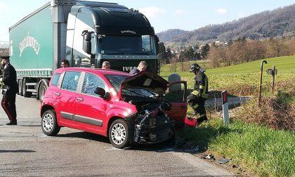 Grave incidente stradale a Missaglia, sul posto l'elisoccorso