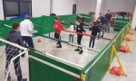 Hockey da tavolo e calcio balilla umano all'oratorio di Novate