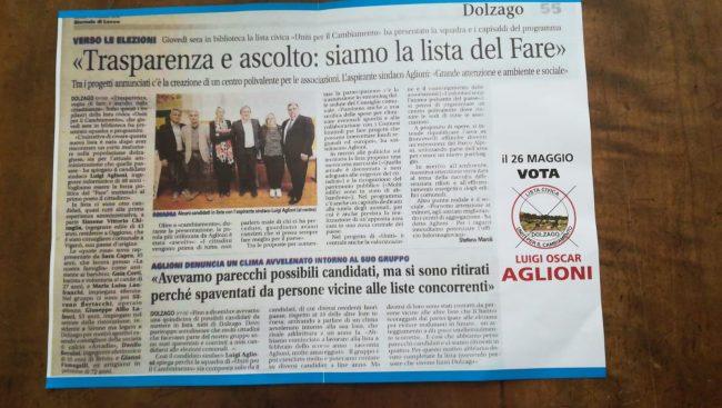 Caro Aglioni, il Giornale di Lecco è di tutti, non della sua lista&#8230&#x3B;