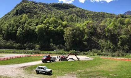 Partiti i lavori per l'elisuperficie a Prato Buscante