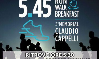 Run, Walk, Breakfast – Memorial Claudio Cappelli: tutti in pista... all'alba