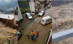 Paura in Valle: colate di fango, strade allagate, esondato il Varrone in Alto Lago. Sospesa la circolazione dei treni FOTO E VIDEO IN DIRETTA