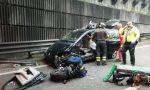 Maxi scontro all'imbocco della Lecco-Ballabio FOTO – TRAFFICO IN TILT