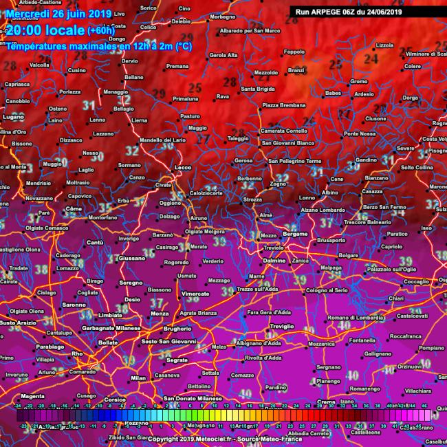 Temperature record nel Lecchese: mercoledì si arriverà a 39 gradi