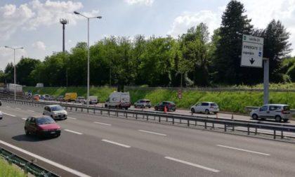 Scontro tra camion, Tangenziale Est bloccata verso Lecco