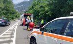 Incidente auto moto, centauro a terra a Oggiono VIDEO e FOTO