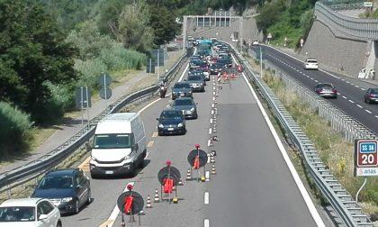 Ritardi al cantiere del ponte di Isella, code chilometriche sulla SS36  verso Lecco