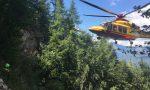 56enne precipita in Grigna: trasportato in elicottero in ospedale. E' in condizioni serie FOTO E VIDEO
