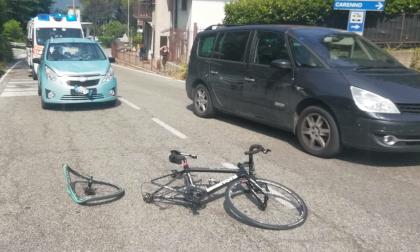 Ciclista investito sulla Sp 177 FOTO
