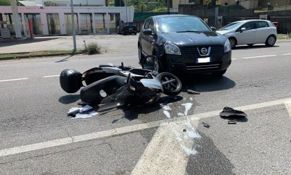 Incidente tra auto e moto, ferito un 41enne