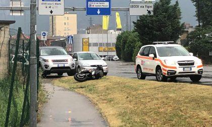 Scontro auto moto: centauro di 41anni in ospedale