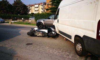 Ancora uno scontro auto moto sulla Provinciale La Santa