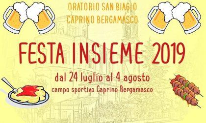 Festa Insieme: torna l'evento al campo sportivo di Caprino