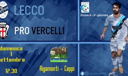 Calcio: aperta la prevendita per Lecco – Pro Vercelli