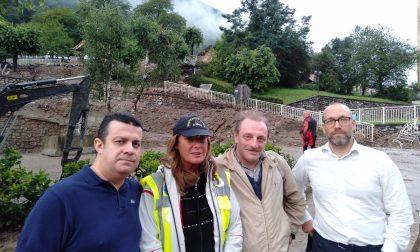 Maltempo in Valsassina: una delegazione leghista a Casargo FOTO