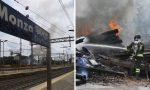 Incendio in stazione a Monza: brucia deposito accanto ai binari