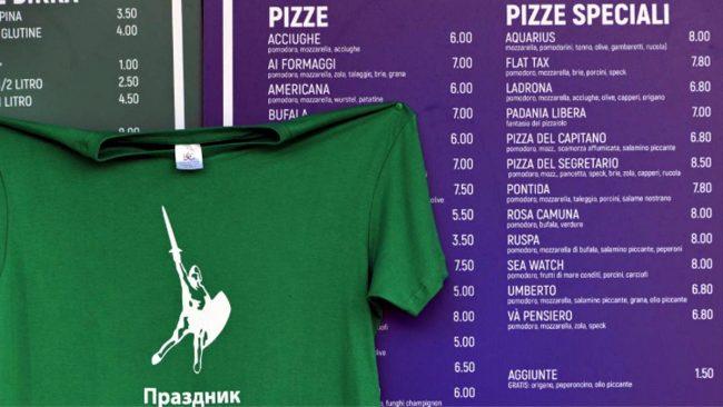 """La pizza """"Seawatch"""" alla Festa della Lega di Pontida fa scatenare il Web"""