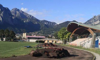 Lecco: partiti i lavori al Centro sportivo del Bione FOTO