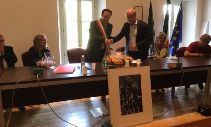 Valmadrera, ricevimento ufficiale della delegazione di Weissenhorn