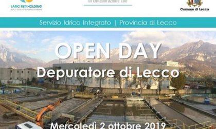Lecco, open day al depuratore della città con Lario Reti Holding