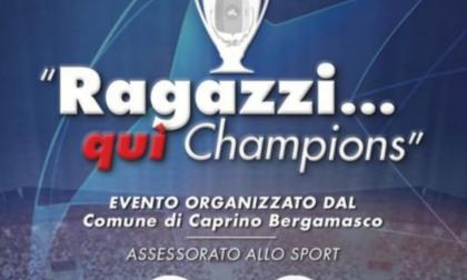 """Serata sportiva, arriva l'evento """"Ragazzi…qui Champions"""""""