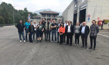 Delegazione internazionale all'impianto di compostaggio di Annone