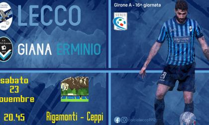 Stasera blucelesti in campo: si gioca Lecco–Giana Erminio