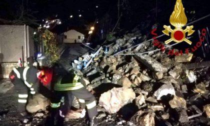 Impressionante frana a Cernobbio: crollata la strada