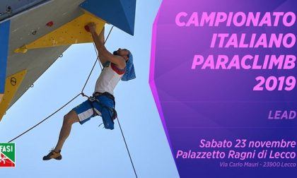 Domani a Lecco i campionati italiani di Paraclimb 2019