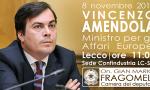 Il Ministro Amendola arriva a Lecco