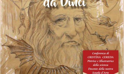 Cristina Cereda a Paderno d'Adda sul 500° di Leonardo e il primo allunaggio