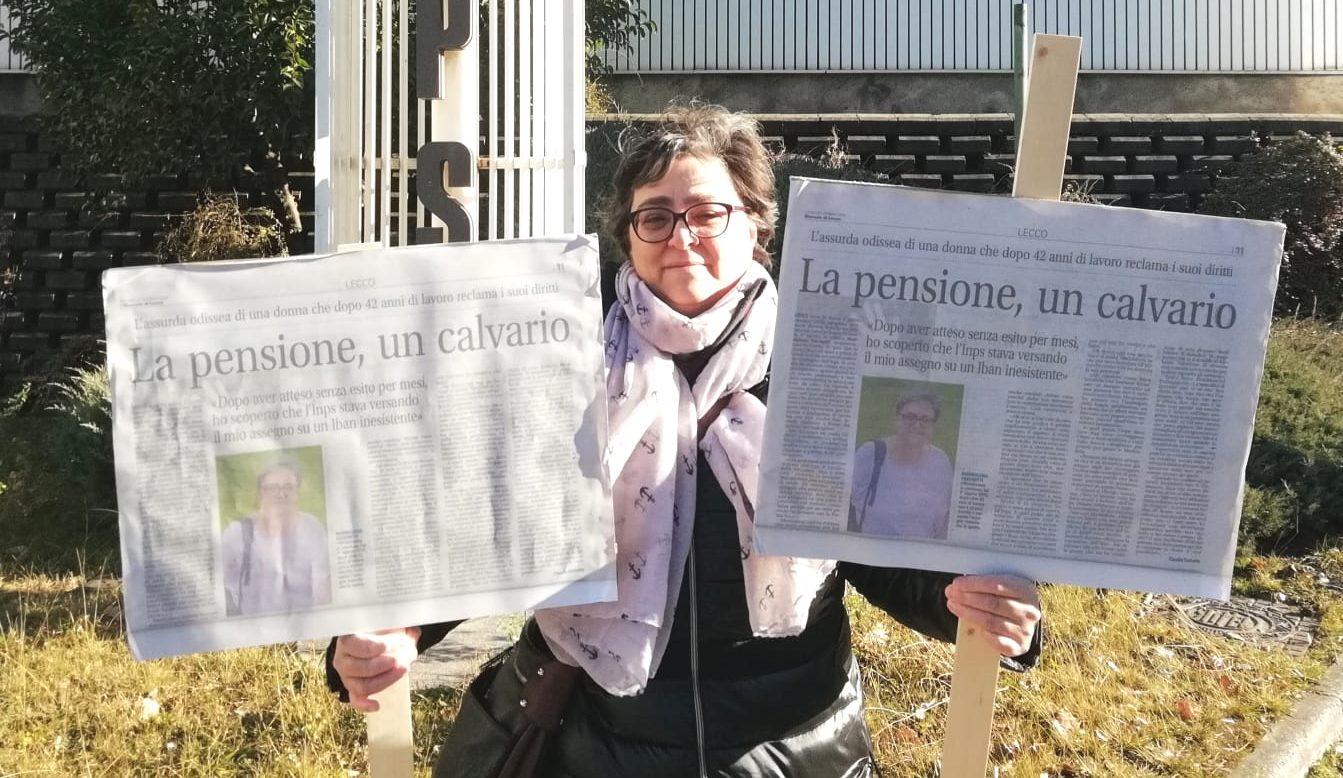 Pensionata Infuriata Picchetta Per Protesta L Inps Prima Lecco