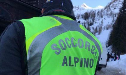 Scialpinista lecchese salvo per miracolo in Alta Vallespluga