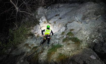 Scalatori bloccati, Soccorso Alpino in notturna allo Zucco Angelone FOTO