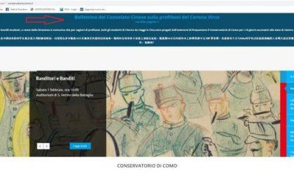 Allarme Coronavirus: il Conservatorio di Como chiede agli studenti di ritorno dalla Cina di restare a casa