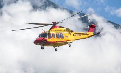 Incidente sulle placche dell'Angelone, escursionista lecchese trasportato in elicottero in ospedale