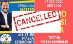 Coronavirus: a Lecco niente comizio di Salvini, annullata anche la manifestazione delle Sardine
