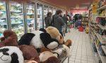 Psicosi Coronavirus: carrelli pieni e lunghe file nei supermercati lecchesi FOTO